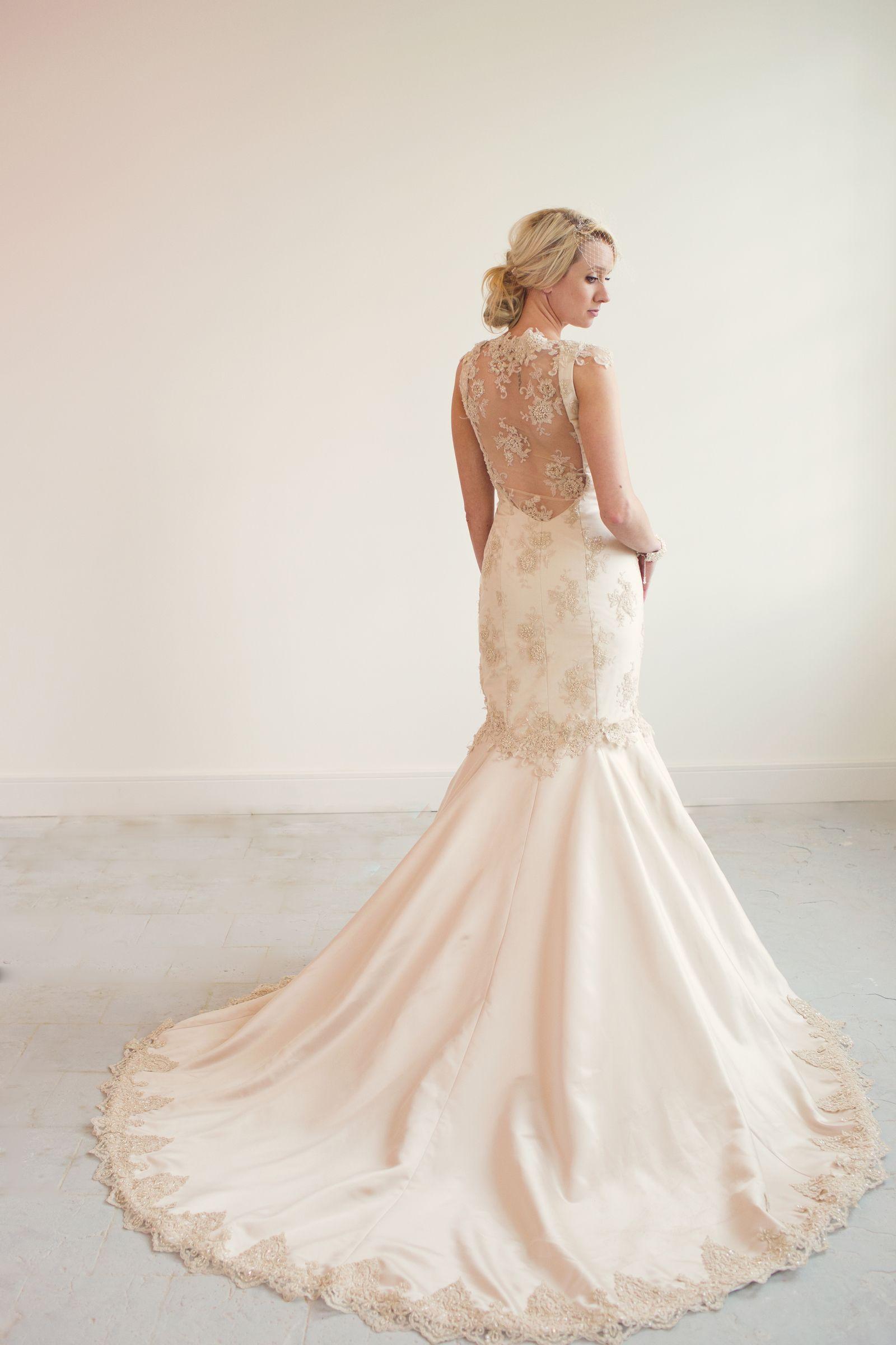 Gabriella Lace mermaid wedding dress, Mermaid wedding