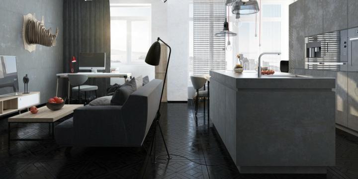 Farbe schwarz Ideen für Böden und moderne Inneneinrichtung Haus - wohnzimmer dekorieren schwarz