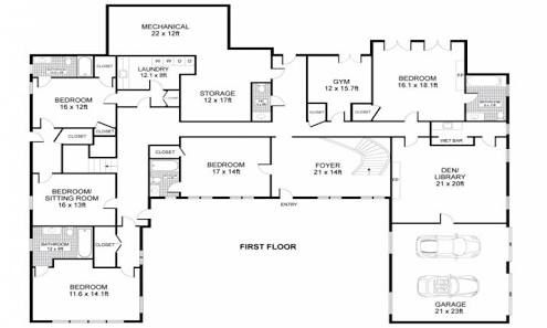 Image Result For U Shaped House Plans With Central Courtyard Design