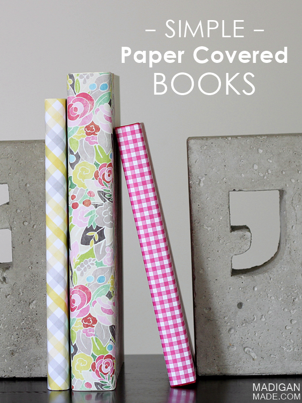 Easy Paper Book Cover : Diy paper covered books easy way to add a little color