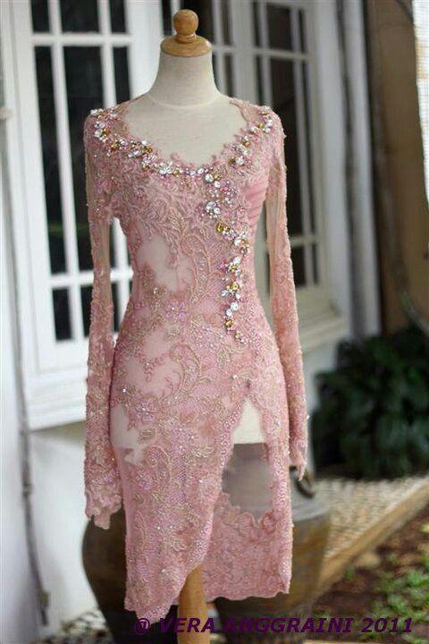 Pretty Dusty Pink Kebaya by House of Vera