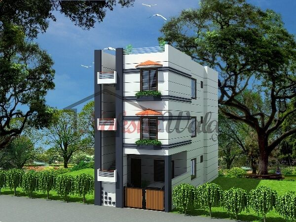 Small house elevations small house front view designs for House elevation models in india