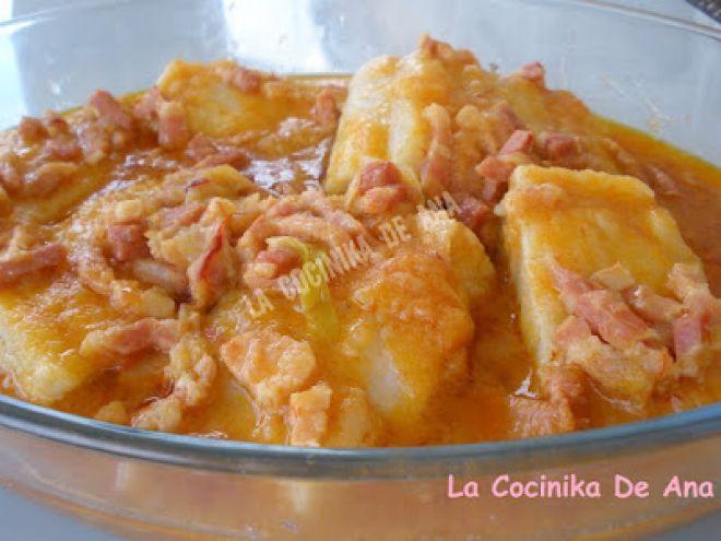 Receta Plato : Bacalao al vapor con salsa vizcaína por La Cocinika De Ana