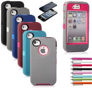 For Apple iPhone 4 4S Case Hybrid Rubber Rugged Matte Hard Shockproof Cover  New  6.49  12.99 (906 Available) End Date  Jul 272016 07 59 AM GMT-07 00 3884762572