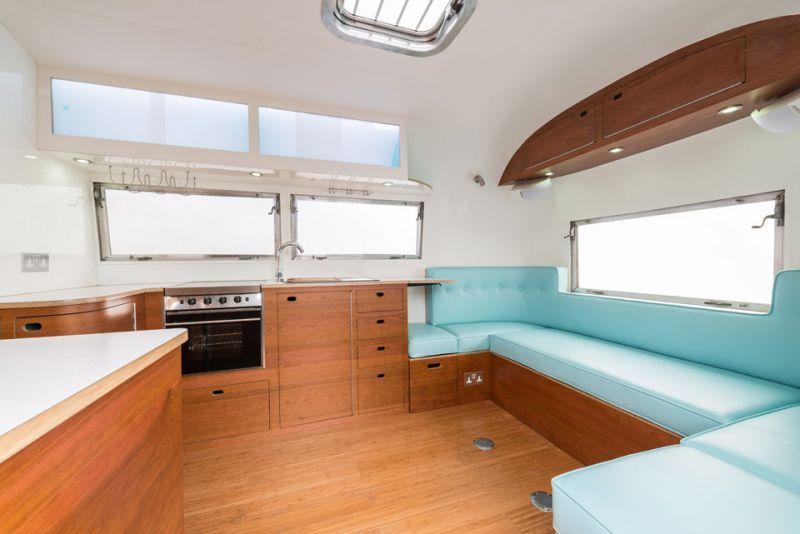 Cool airstream remodels american retro caravans a for Interior caravan designs
