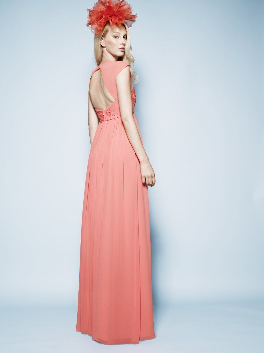 Gorgeous mandarin orange colored chiffon gown for prom {Watters ...