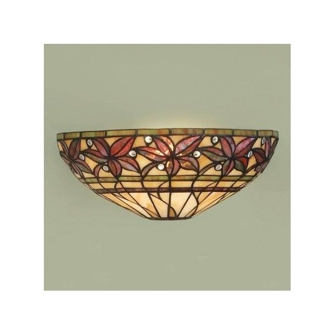 Ashtead Single Light Tiffany Style Wall Fixture in Autumnal Colours ...