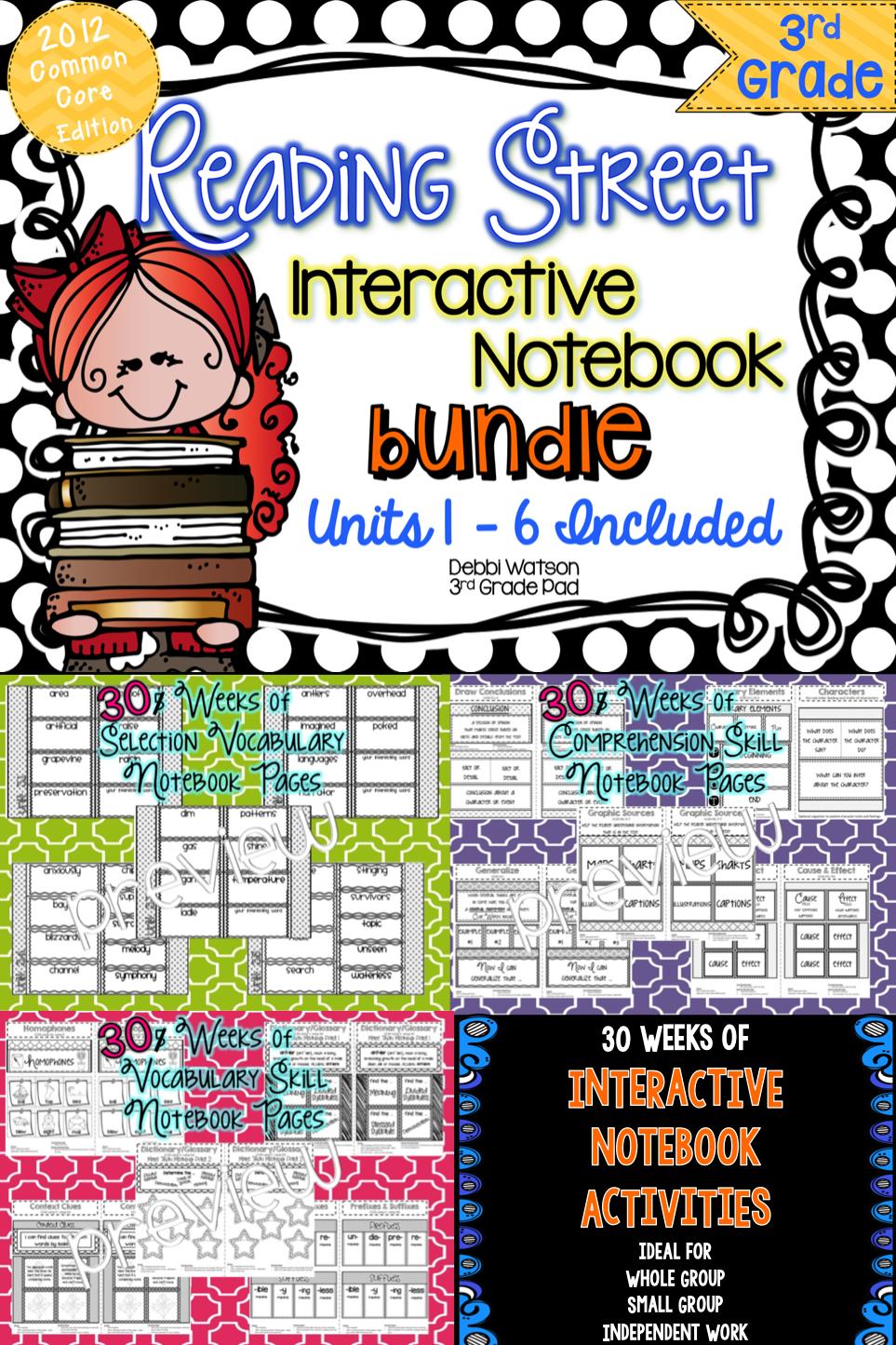 Reading Street 3rd Grade Interactive Notebook BUNDLE