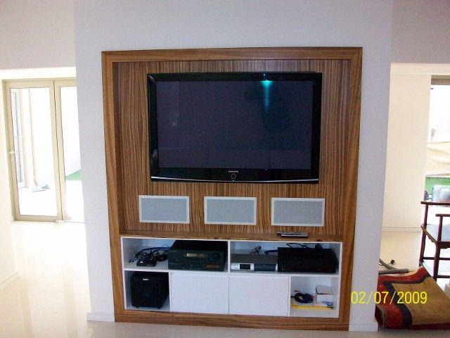 Modern Built In Tv Cabinet With Surround Sound Etc