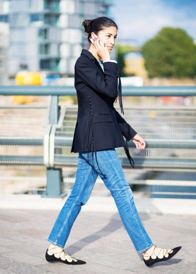 Caroline Issa: пиджак и джинсы