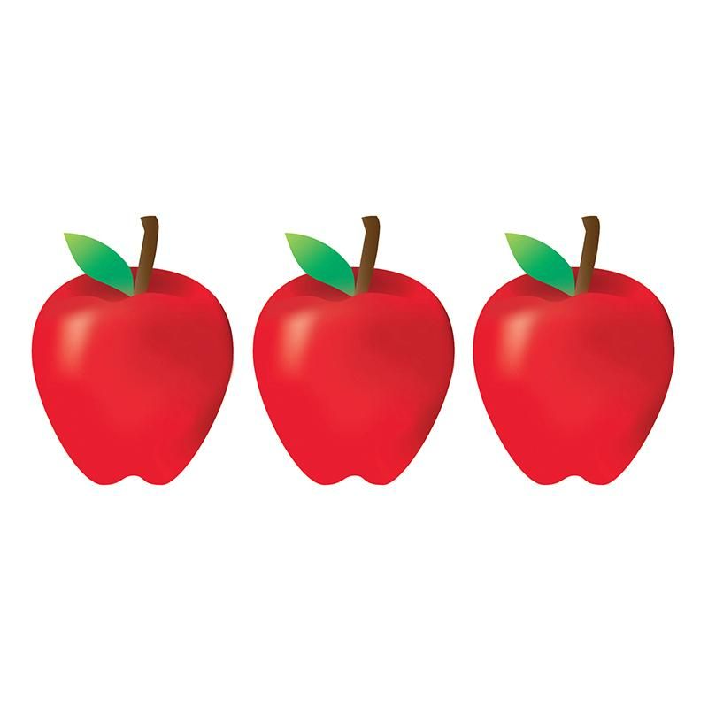 7IN RED APPLES ACCENTS