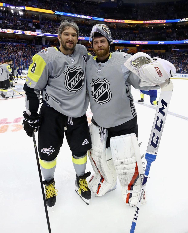 Alex Ovechkin Braden Holtby Capitals Hockey Caps Hockey Nhl All Star Game