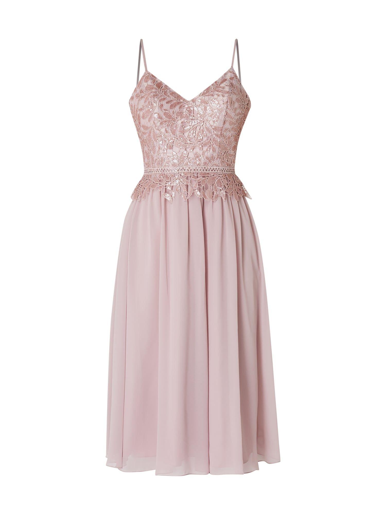 Laona - Cocktailkleid mit floraler Spitze - Rosé | Kleid ...