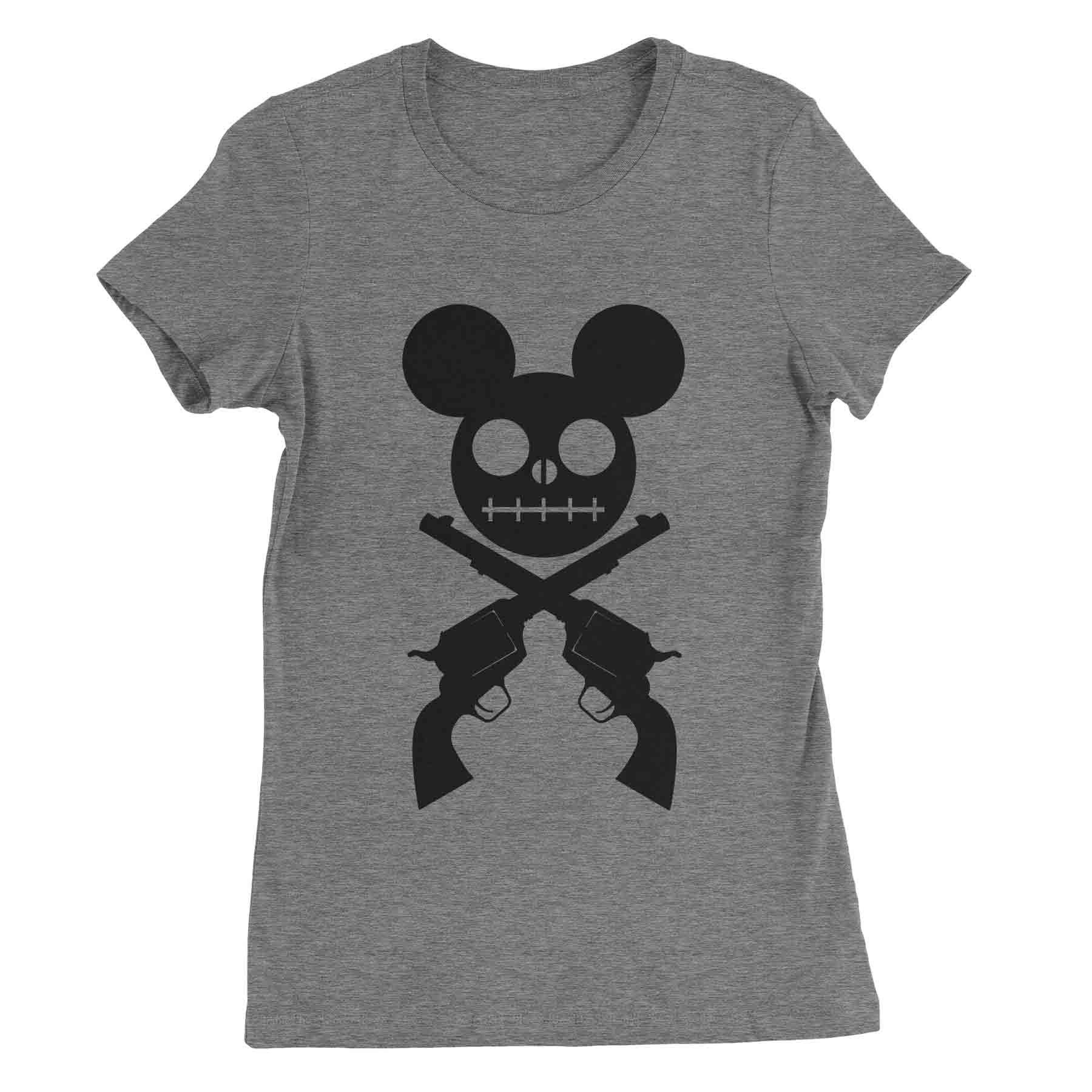 Micky Skull and Cross Pistols  #tops #clothes #quotes #womens #tees #sassy #funny #sayings