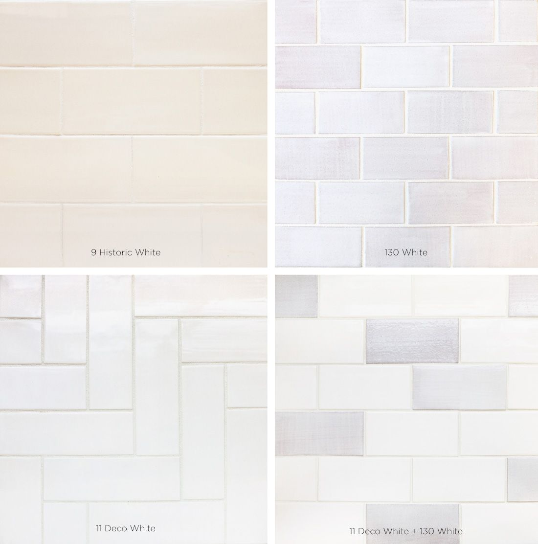 White subway tile options you adore the look of vintage for Subway tile patterns