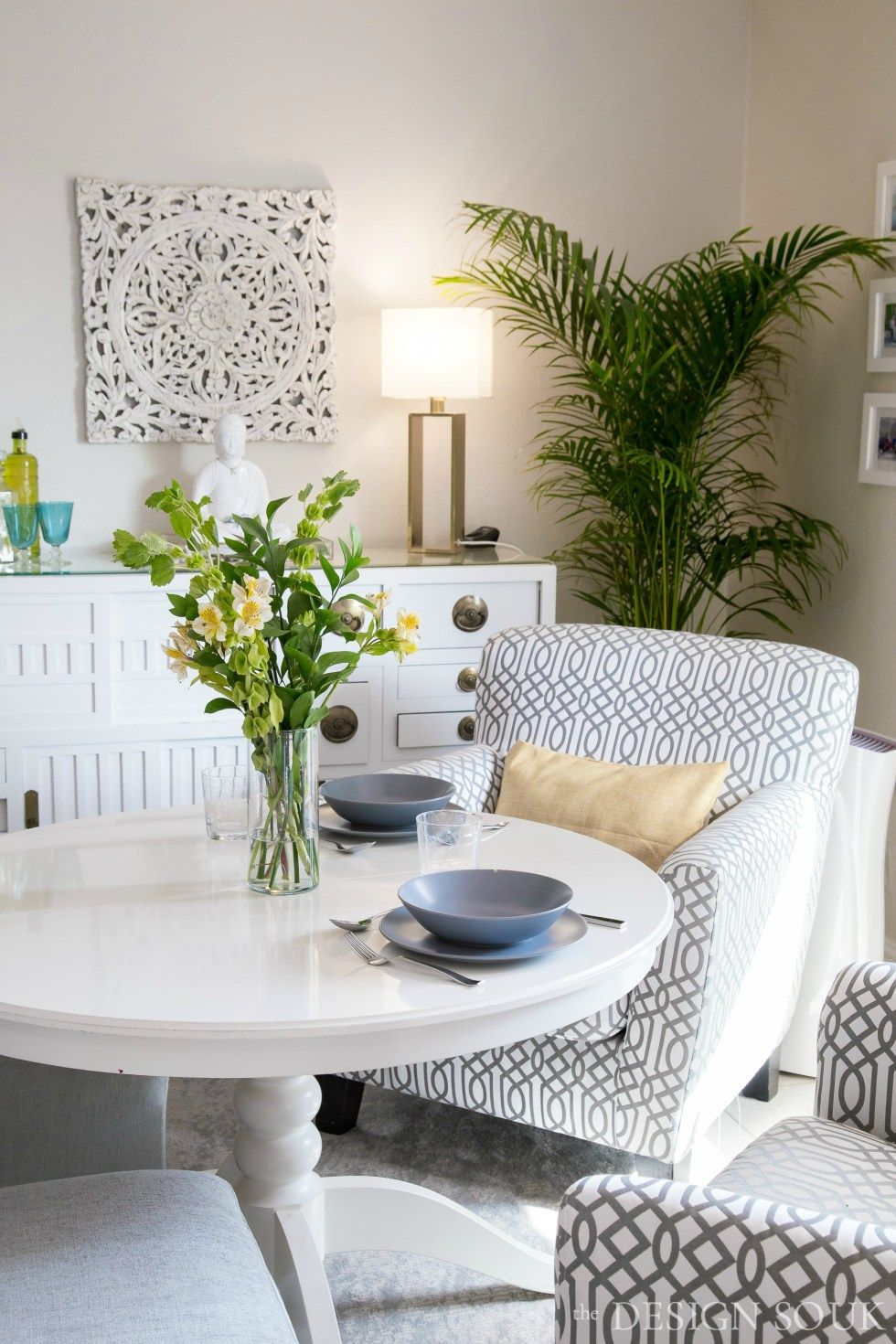 Bright Tropical Inspired Makeovers The Design Souk Living Dining Room New Furniture Ikea Office Furniture [ 1470 x 980 Pixel ]