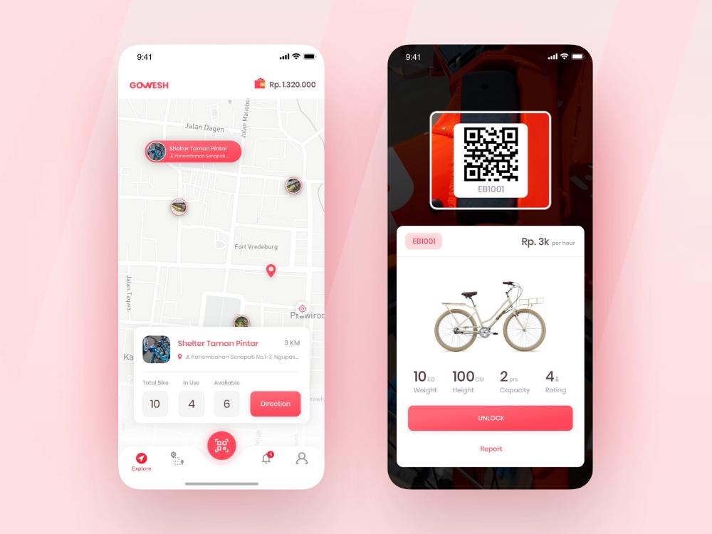 Exploration Bike Sharing Apps Digital Agencies App Design App