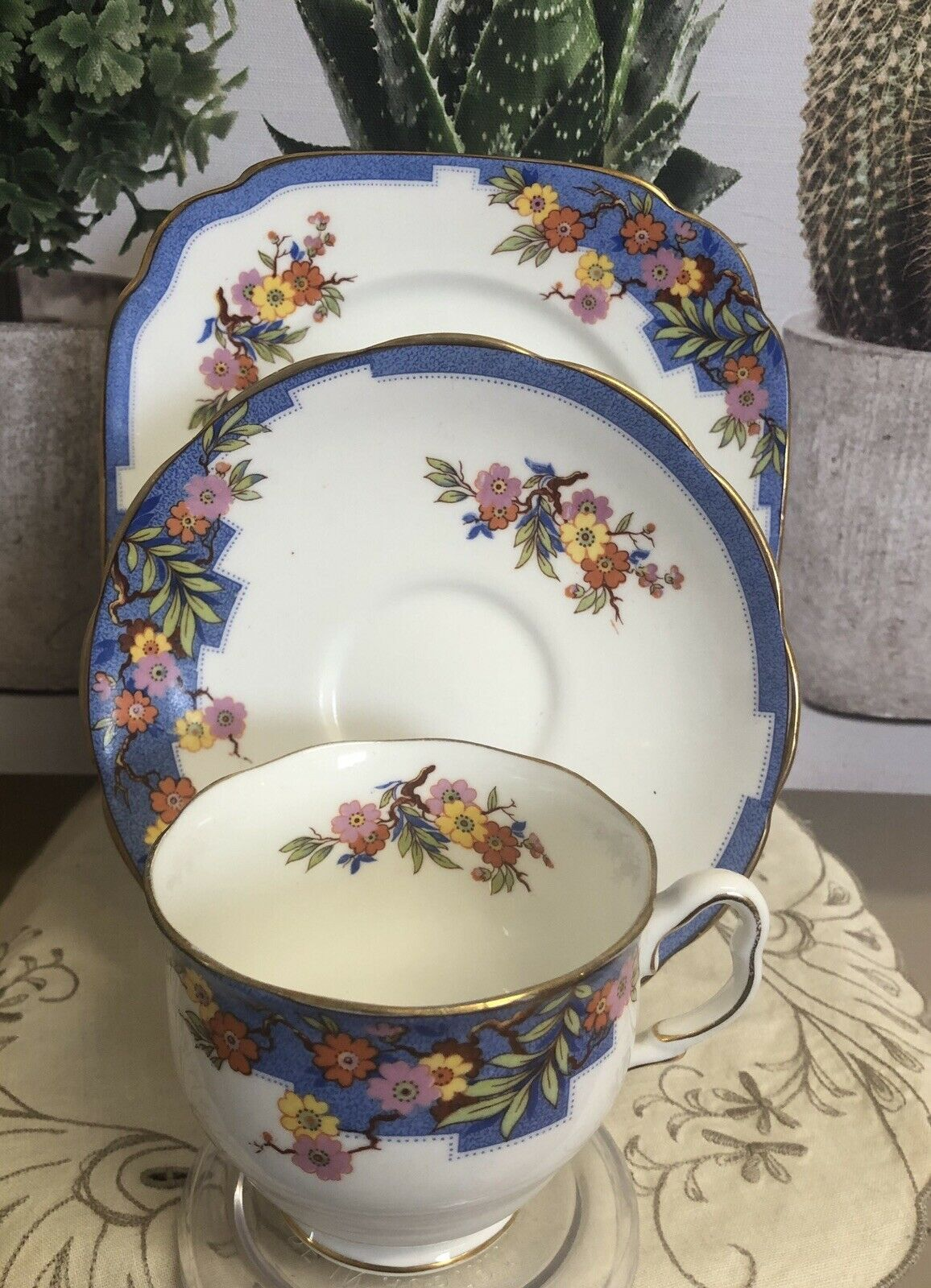 Royal Albert Crown China England June Trio #cuppatea