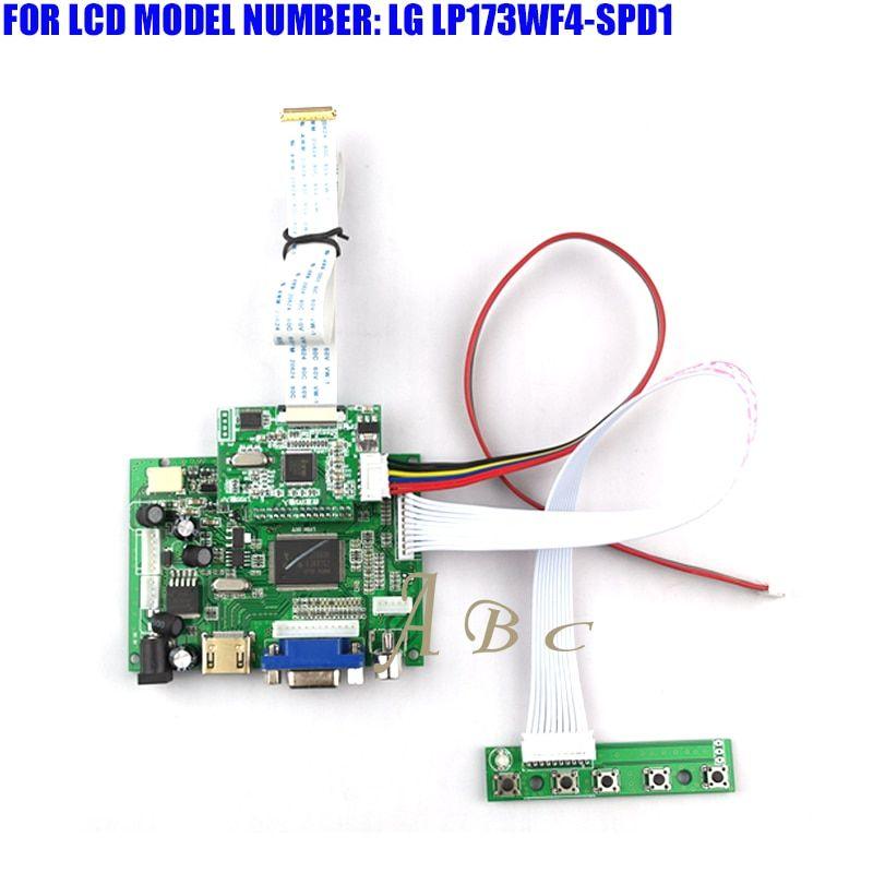 HDMI VGA 2AV LED Controller Board Module Kit for LG LP173WF4