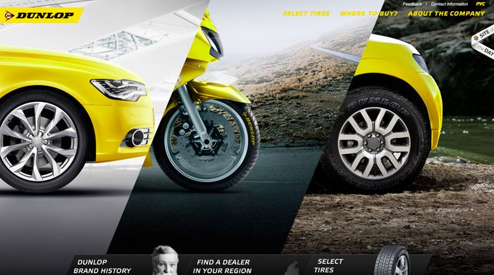Dunlop Tire CIS | Awwwards | Site of the day