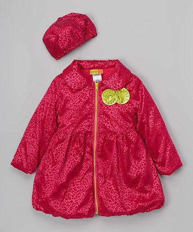 Look what I found on #zulily! Red & Yellow Jacket & Beret - Infant & Girls #zulilyfinds