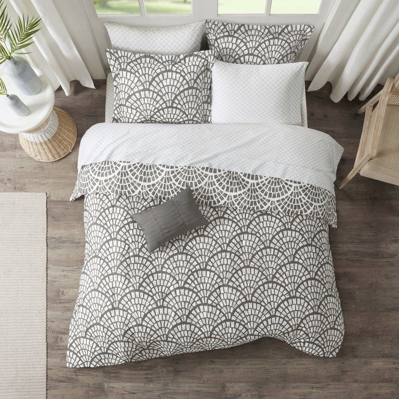 Ivy Bronx Gretna Reversible Comforter Set Wayfair Complete Bedding Set Bedding Sets Grey Reversible Bedding