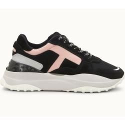 Photo of Tod's – Sneakers made of suede and technical fabric, gray, pink, black, 39 – Shoes Tod's