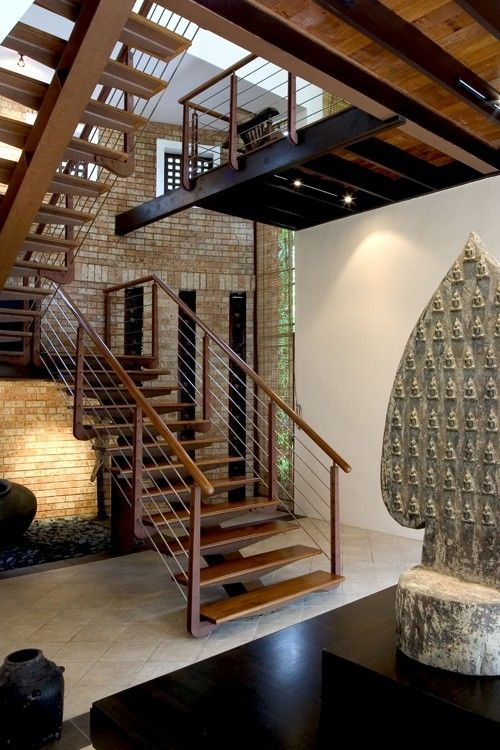 Lighting Basement Washroom Stairs: Love The Open Staircase