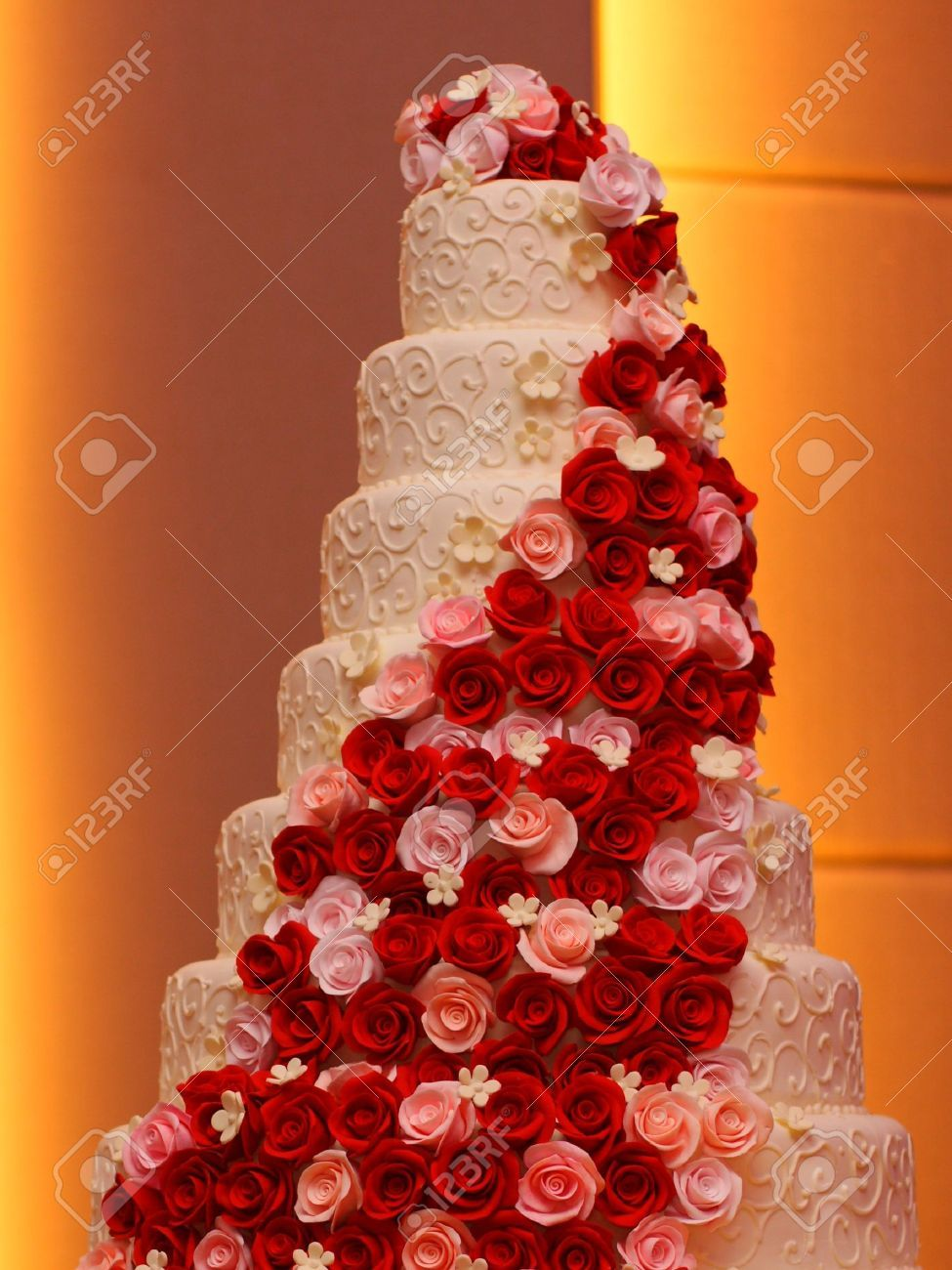 7 Tier Wedding Cakes White Cool Beautiful