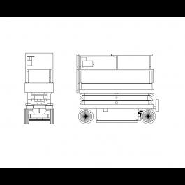 Scissor lift | Mechanical CAD blocks | Scissors, Cad blocks