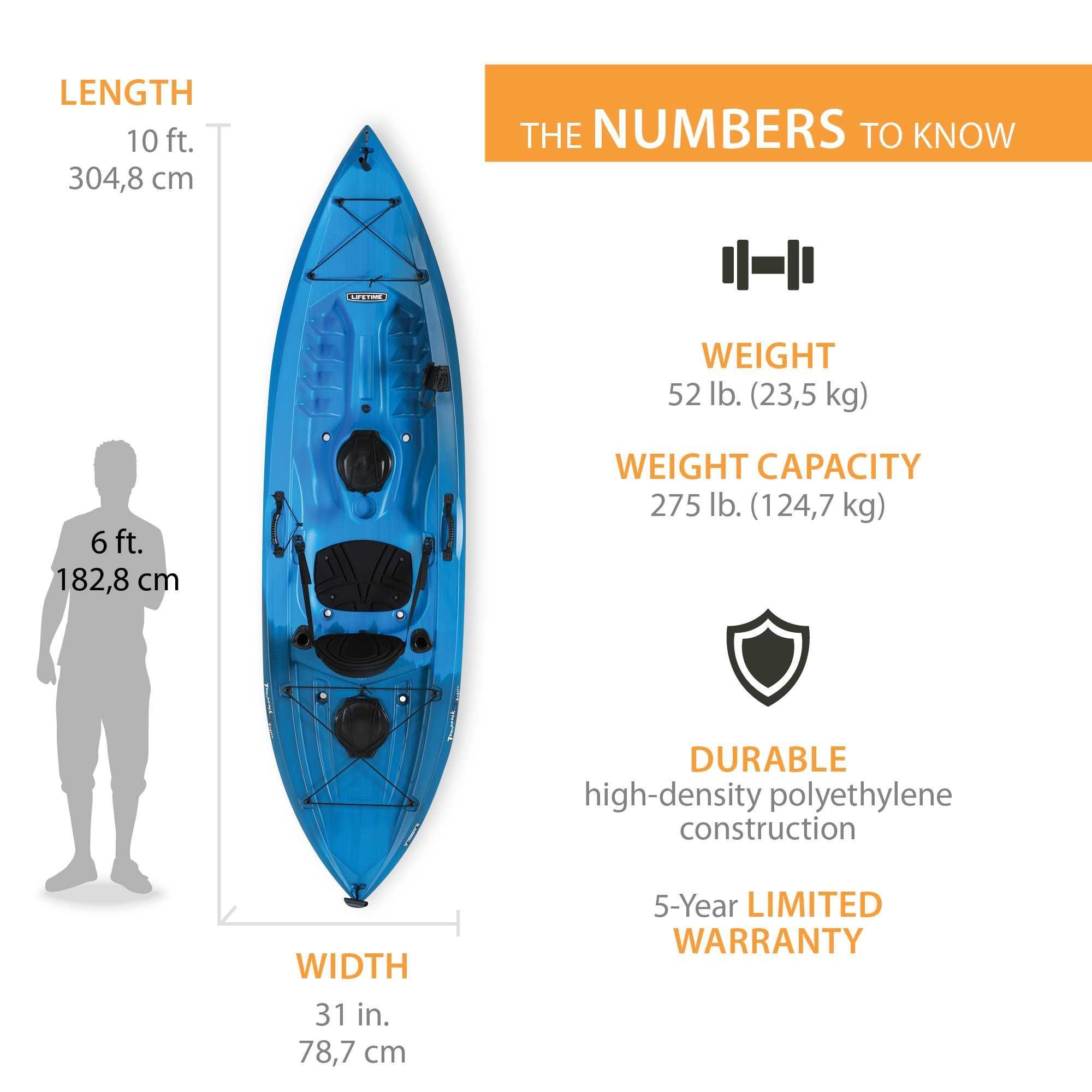 Lifetime Tamarack Angler 100 Fishing Kayak (Paddle