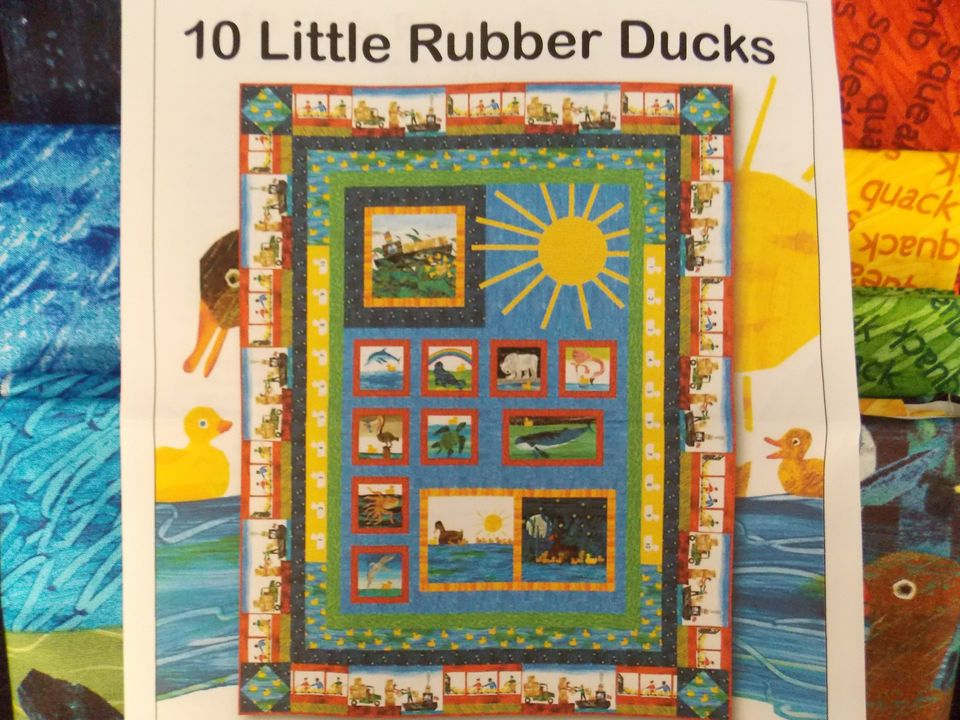 10 Little Rubber Ducks by Eric Carle Quilt Fabric Kit 68