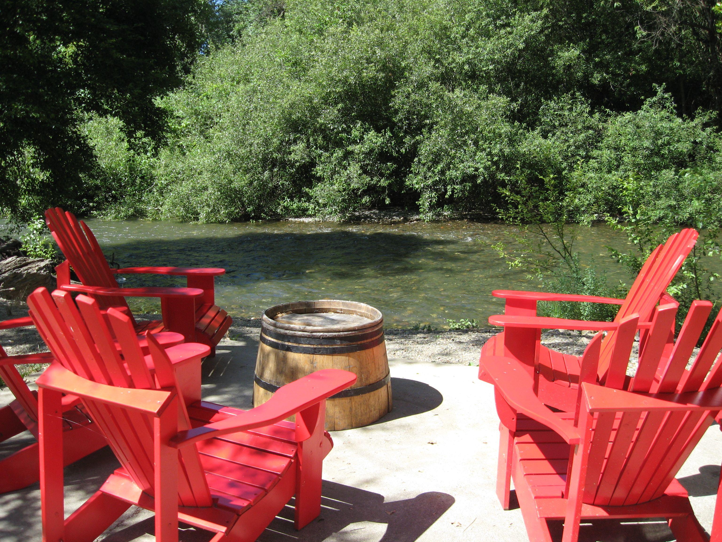 Truett Hurst Vineyard Looks Like Bs S Kind Of Place Red Adirondack Chairs Winery Healdsburg