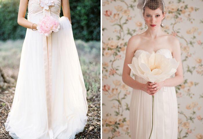 Single Flower Wedding Bouquets | <3 | Pinterest | Vily, Papierové ...