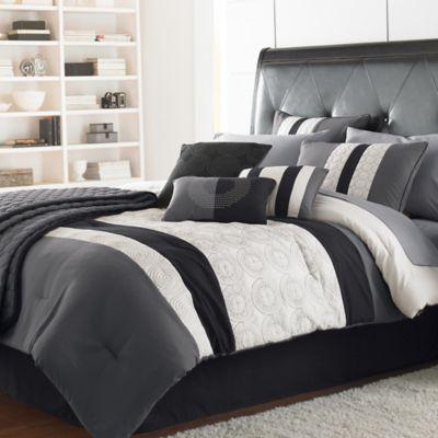 Elsie Comforter Set Comforter Sets King Comforter Sets Grey Comforter Sets
