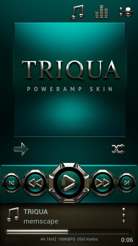 Poweramp TRIQUA Skin v1 32 apk Requirements: 2 1 and up