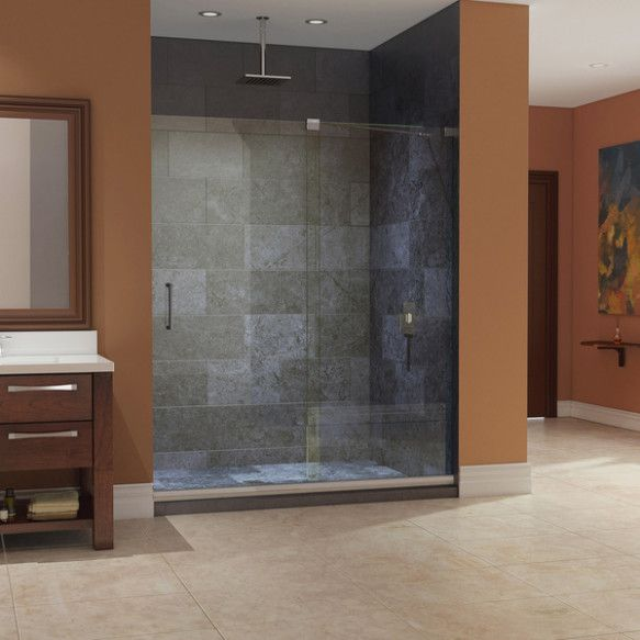 54 Inch Base With Seat For Shower Sliding Shower Door Bypass