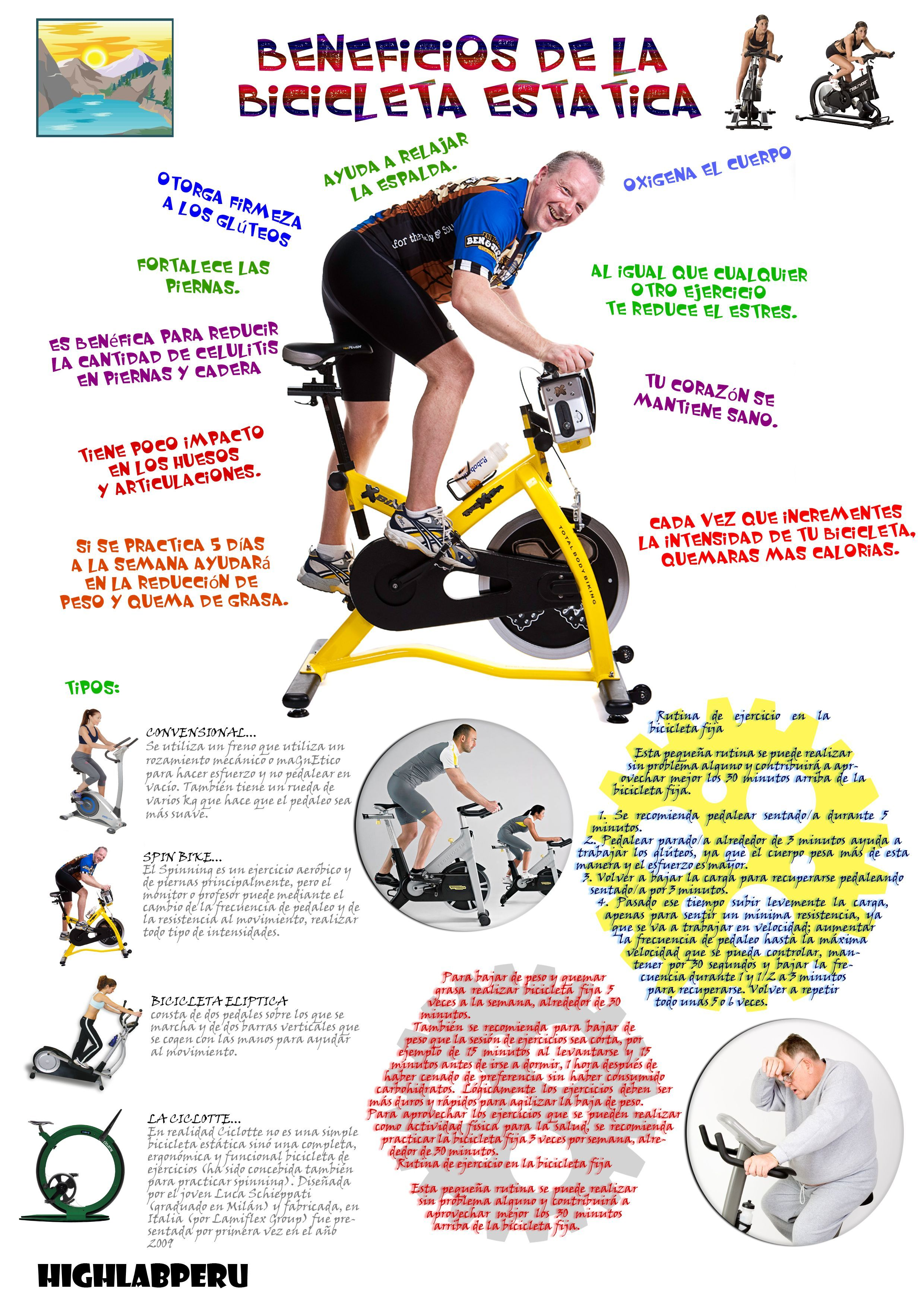 plan para adelgazar con bicicleta estatica