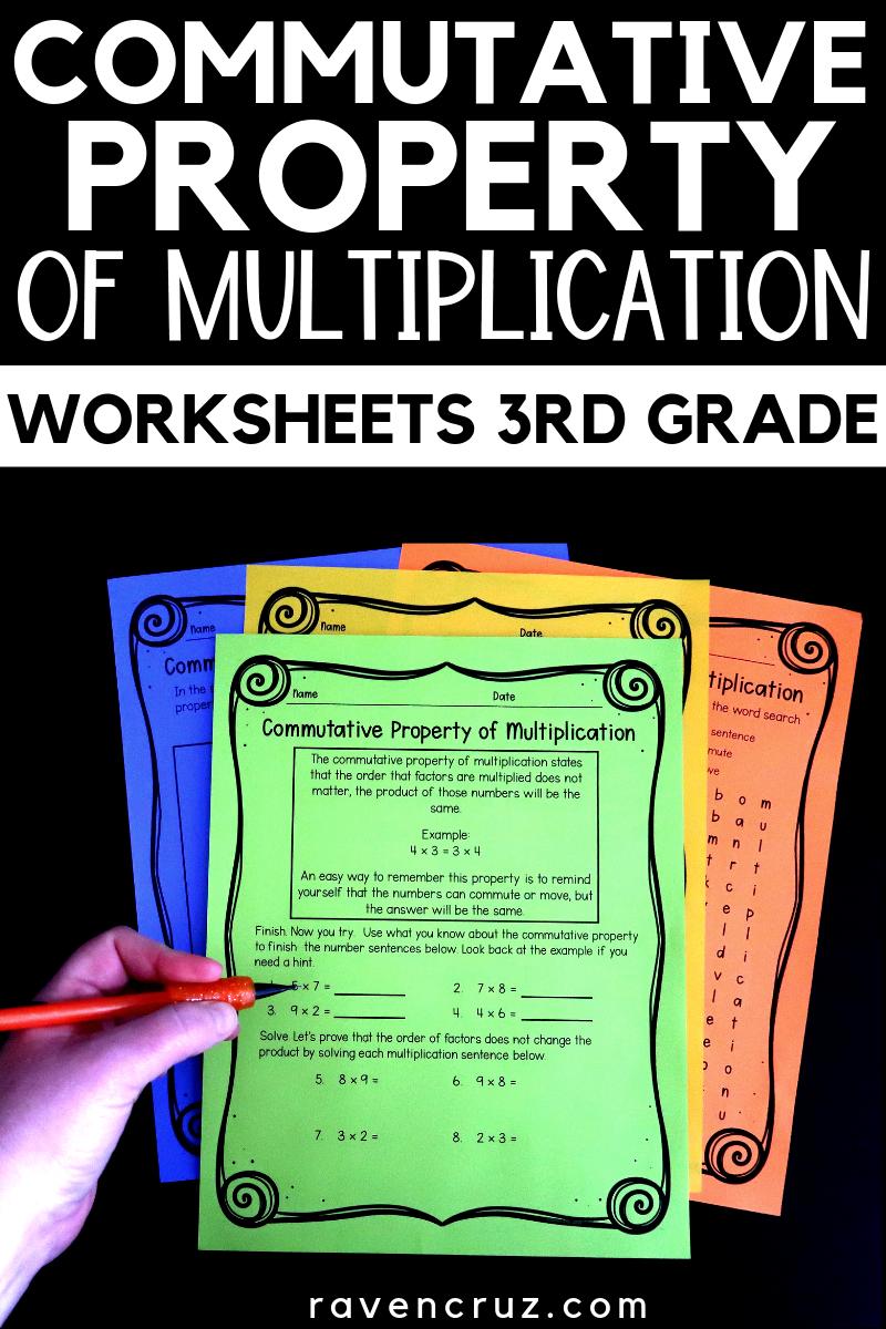 Commutative Property Worksheets For Third Grade Math 3rd Grade Math Multiplication And Multiplic Properties Of Multiplication Commutative Property Commutative [ 1200 x 800 Pixel ]