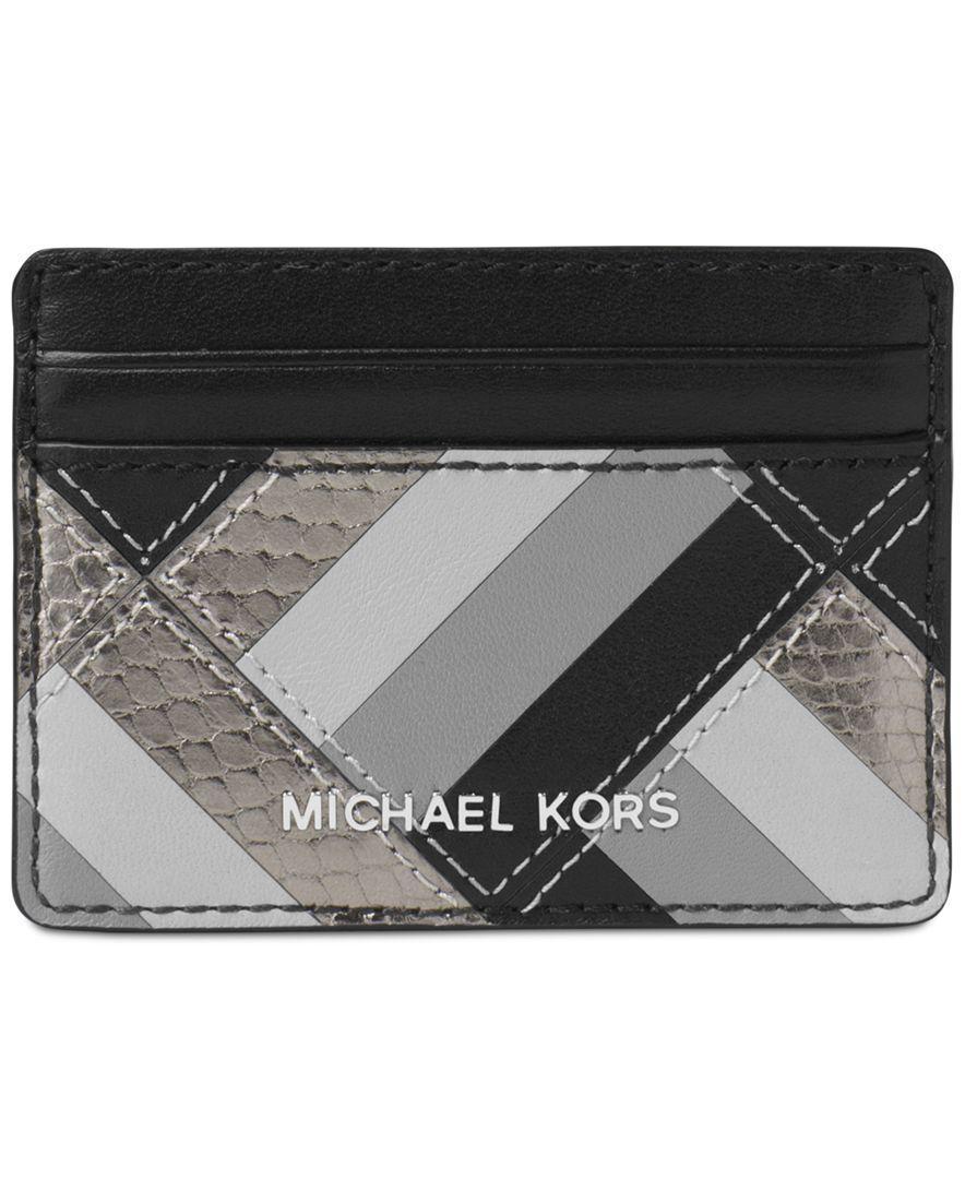041859b84972 Michael Michael Kors Marquertry Patchwork Jet Set Travel Card Case ...