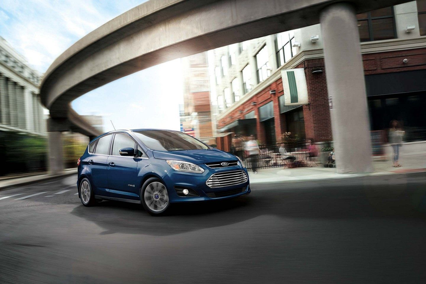 The Courtesy Of Ford Media C Max Hybrid Delivers Best In Class 188 Combined Horsepower And In All Electric Mode It Is Capable Of Ford Car New And Used Cars
