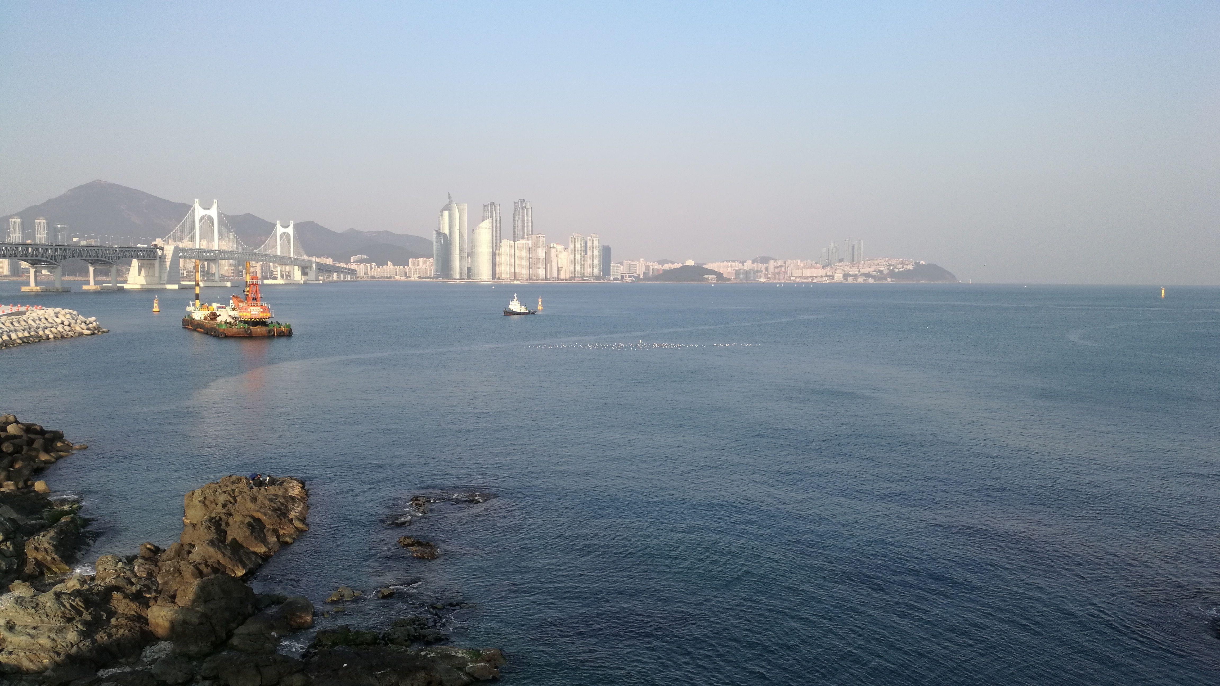 Vistas hacia la parte financiera de Busan
