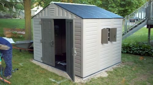 Us Leisure 10 Ft X 8 Ft Keter Stronghold Resin Storage Shed 157479 The Home Depot Shed Outdoor Storage Solutions Storage Shed