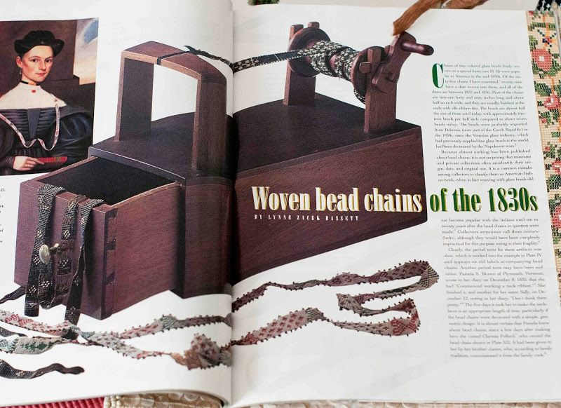 Plays With Needles: Bead Chains of the 1830s