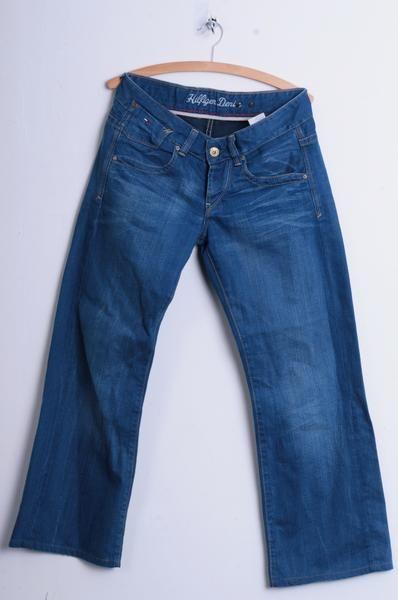 Hilfiger Denim Mens W29 L32 Trousers Jeans Laurie Cotton 70s Blue - RetrospectClothes