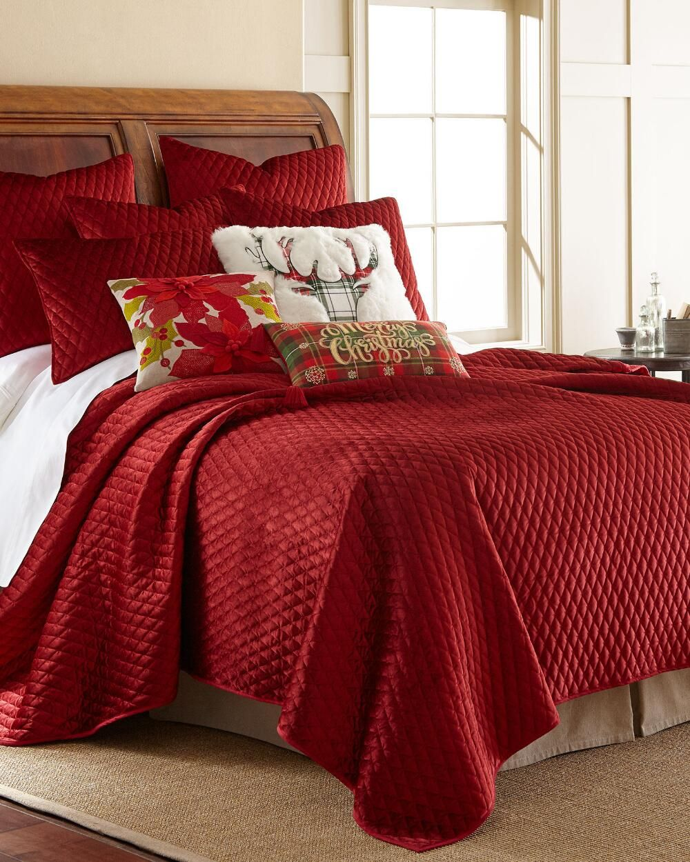 Stein mart bathroom accessories - Exclusively Ours Red Velvet Quilt Bedding Collections Nina Campbell Home Featured Brands Bed Bath