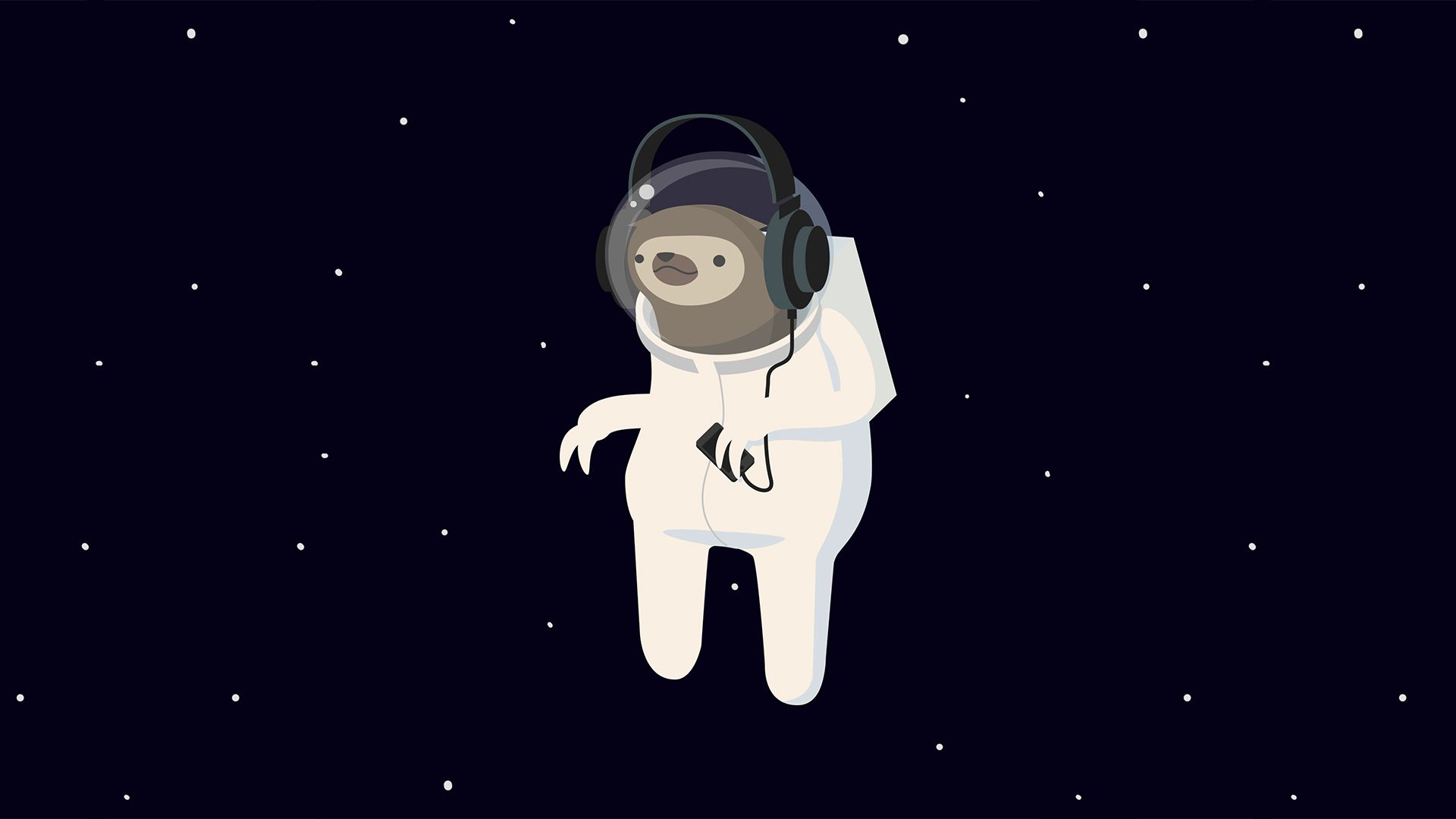 1920 x 1080. Space sloth. Minimal Wallpaper Pinterest