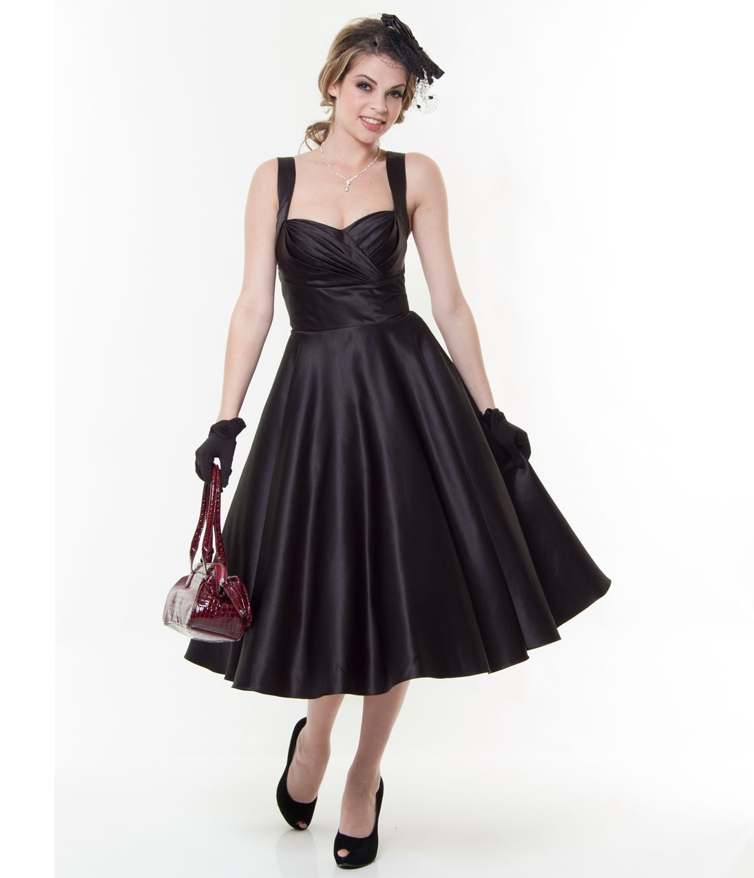1950s Plus Size Dresses, Clothing Black sweetheart dress