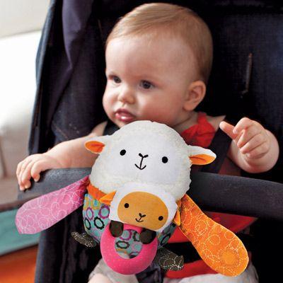 Skip Hop Hug and Hide Stroller Toy Lamb #Easter #basket