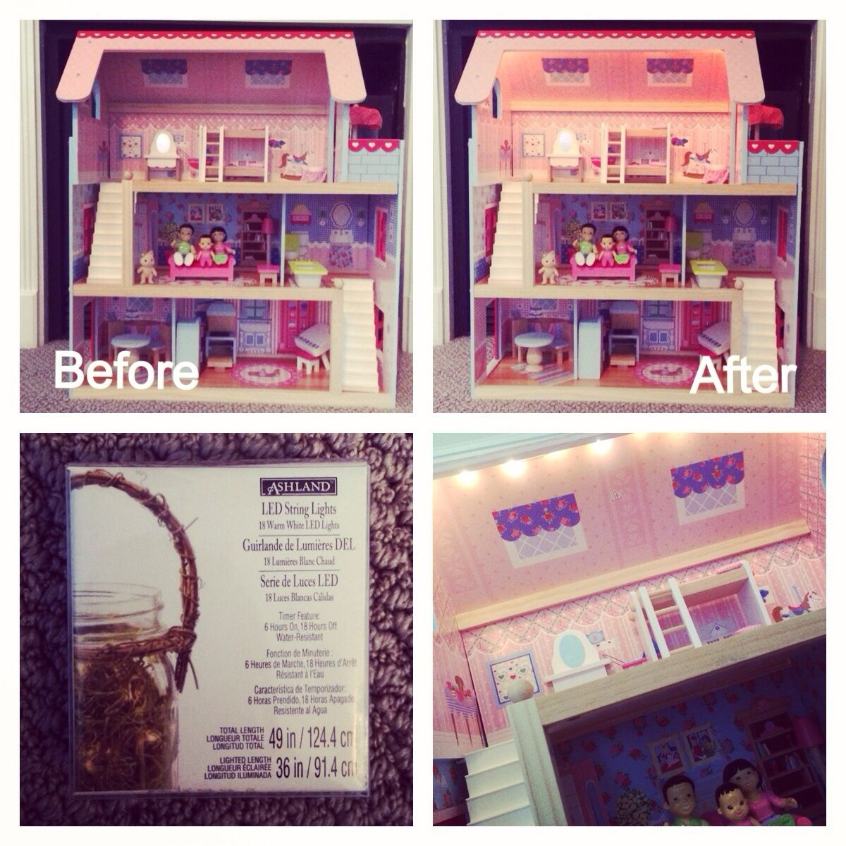 DIY Dollhouse Lights - quick, easy & inexpensive | All ...